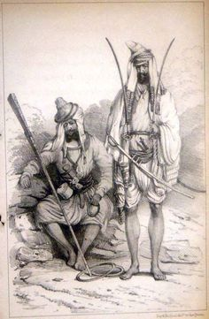 Sikhs a steel engraving, History Of India, Art History, Colonial, Vintage India, Ink Pen Drawings, British Indian, Sketches, Culture, Warriors