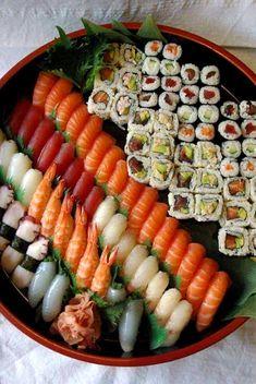 I Love Food, Good Food, Yummy Food, Sushi Recipes, Asian Recipes, Food Platters, Food Dishes, Ramen Comida, Sushi Platter