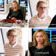 """This is the best replacement for you you could come up with?"" - Cat and Kara #Supergirl"