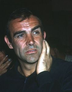 Sean Connery. Love this candid shot of him. Very human and to me, much more attactive in its honesty.