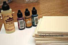 DIY Alcohol Ink Coasters {Tutorial}