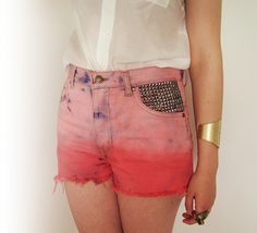 Shorts tie dye and studded