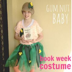 This is my Miss 11, dressed up as a Gumnut baby from Snugglepot and Cuddlepie. We purchased some green tulle to make the skirt and added so...