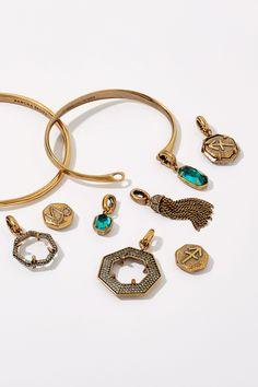 GiftJewelryShop Gemini Zodiac Charm Emerald Green Crystal May Birthstone Red Santa Hat Charm Bracelets