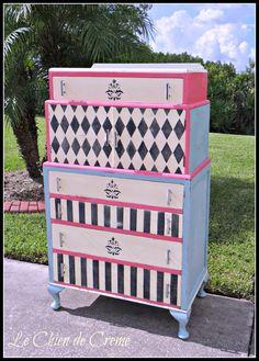 Vintage Art Deco Dresser Whimsical by LeChienDeCreme on Etsy, $375.00