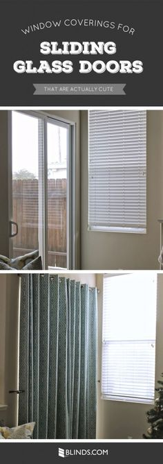 Window Coverings for Sliding Glass Doors That Are Actually Cute & Best Sliding Door Window Treatments | ... treatments are needed ... pezcame.com