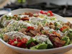 Cobb Salad with Blue Cheese Dressing recipe from Ree Drummond via Food Network