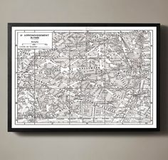 Paris France 8th Arrondissement Map - Élysées map Print : Vintage Paris Arrondissement Map - Élysées map print poster 1950s. Similar to Restoration Hardware maps but not affiliated with or printed by Restoration Hardware.