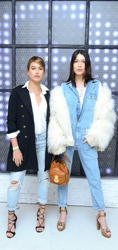 Hailey Baldwin and Bella Hadid, both wearing Denim and Supply Ralph Lauren, celebrated the New Museum Triennial Party and Denim & Supply's Project Warehouse