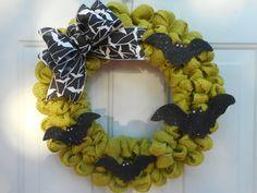 Halloween wreath Halloween burlap wreath by ChloesCraftCloset