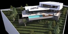 Be Spoiled properties, luxury villas Javea, new build, renovations and investments Spain., Be Spoiled by Mike van Essen Modern Architecture House, Concept Architecture, Architecture Design, Modern Villa Design, Hillside House, Modern Mansion, Small House Design, Modern House Plans, Exterior Design