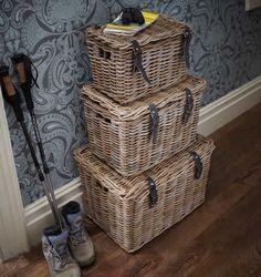 Buy the Set of 3 Fisherman's Wicker Baskets from STORE Basketware today! A part of our Wicker & Seagrass Storage Baskets range. Wicker Couch, Wicker Headboard, Wicker Shelf, Wicker Tray, Wicker Table, Wicker Furniture, Rattan Chairs, Wicker Mirror, Wicker Purse