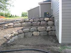 landscape of boulder walls