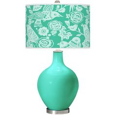 Color Plus Turquoise Aviary Ovo Table Lamp ($150) ❤ Liked On Polyvore  Featuring Home