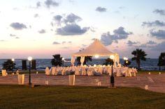 Kefalos Beach marquee set up for a wedding reception Outside Wedding, Wedding Reception, Wedding Beach, Beach Weddings, Kefalos Beach, Cyprus Wedding, Wedding Decorations, Table Decorations, Wedding Locations