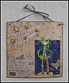Decorative hanging using Stampotique stamps :)