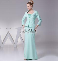 A Line Floor Length Satin Long Sleeve Aero Blue Beautiful Evening/Mother Of The Bride Formal Dress