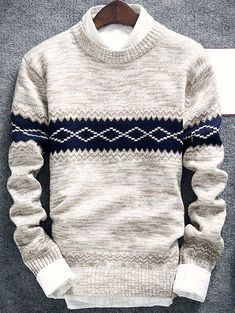 Product Geometric Pattern Space Dye Crew Neck Sweater available for Zaful WW, get it now ! Mens Fashion Sweaters, Mens Fashion Wear, Latest Mens Fashion, Men Sweater, Knit Sweaters, Fashion Hoodies, Geometric Patterns, Pull, Suits
