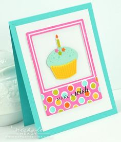 Make A Wish Card by Nichole Heady for Papertrey Ink (July 2012)