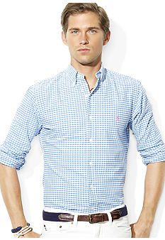 Polo Ralph Lauren Classic-Fit Gingham Oxford Shirt