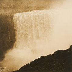 RENA BASS FORMAN - Iceland #8, Dettifoss  Toned Gelatin Silver Print, 38 x 38 inches by winston_wachter, via Flickr
