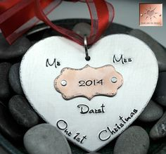 Our First Christmas Ornament Handstamped by HeartAndSolDesigns
