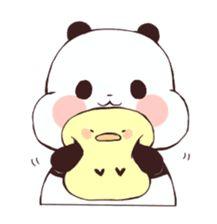 Panda Kawaii, Cute Kawaii Girl, Cute Panda Baby, Panda Love, Panda Drawing, Bear Drawing, Cute Little Drawings, Cute Kawaii Drawings, Anime Animals