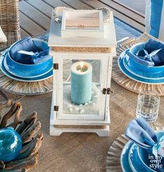 White Beach Candle Lantern... http://www.beachblissdesigns.com/2017/04/white-beach-candle-lanterns.html