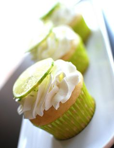 Fluffy Lime Cupcakes with Lime Whipped Cream | Easy Cookbook Recipes