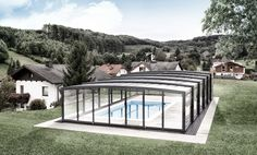 Pool Enclosure POPP PRESTIGE P3 safe, resisting even a thick layer of snow in winter mountains resorts