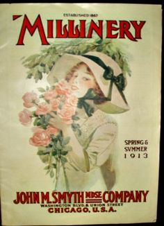 1913 millinery catalog www.the-gatherings-antique-vintage.net