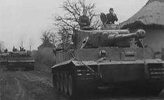 Advancing to the front, the Tigers from the 13./SS-Panzer-Regiment 1 of the Leibstandarte Division in the area of operation west of Kiev in late 1943.