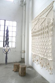 Modern macrame- would love to make this for back wall of house