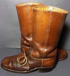 Frye 2278 Campus Brown Leather Vintage 70's Biker Riding ...