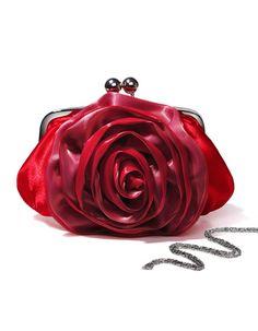 df0e886ad6ca Beautiful Satin Flower Clutch Purse   Evening Party Bag Handbag (Black).  360buy · Women s Evening Bags