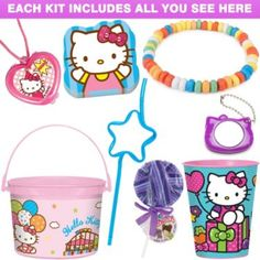 Shop for Neon Hello Kitty Ultimate Favor Kit plus other party supplies. We offer the most wanted party supplies and accessories, all available for bargain wholesale prices!