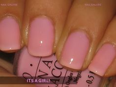 "A nice and simple Baby Pink color by OPI in the shade ""It's a girl!"" I love the name."