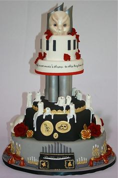 Phantom of the Opera inspired cake