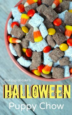 Halloween Puppy Chow...take 2 http://www.yourcupofcake.com/2013/09/halloween-puppy-chow-take-2.html