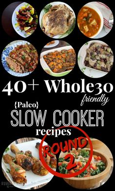 Friendly Slow Cooker Recipes-Round 2 - Rubies & Radishes - list of healthy recipes Slow Cooker Fajitas, Slow Cooker Enchiladas, Slow Cooker Lasagna, Slow Cooker Ribs, Slow Cooker Chili, Slow Cooker Recipes, Paleo Recipes, Real Food Recipes, Recipes Dinner