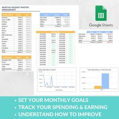 Easy Budget Spreadsheet Template Monthly Spending Earning