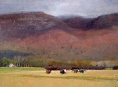 Michael Workman | Autumn Landscape with Horses