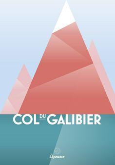 Col du Galibier / Cycling Art Print by Espresso Cycling #valloire #Galibier