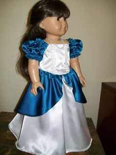 American Girl Floor Length Party Dress by SusiesDollFashions, $26.00