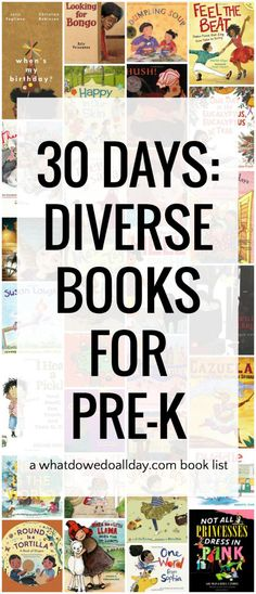 One month of reading diverse books for preschoolers.