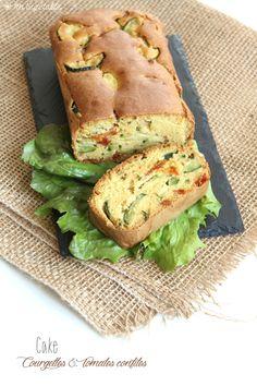 Cake salé courgettes et tomates confites (vegan et sans gluten) --> Ma Végétable