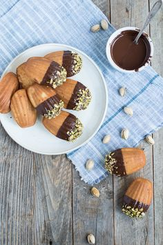 chocolate dipped pistachio madeleines | superman cooks
