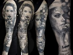 Black & Grey Tattoos By Schwarz,Photorealism. For more of his work please visit the facebook page of H.V.44 Tattoo Studio. Thank you! #schwarzcraiova #photorealistictattoos Ink Gallery, Dark Ink, Photorealism, Black And Grey Tattoos, Tattoo Studio, Facebook, Black And Gray Tattoos