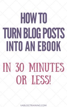 How to Turn Your Blog Posts into an Ebook With Beacon