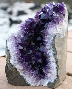 ~ It's a Colorful Life ~ — Luscious Chunk of Natural Amethyst Minerals And Gemstones, Rocks And Minerals, Geode Rocks, Crystal Aesthetic, Beautiful Rocks, Mineral Stone, Amethyst Crystal, Amethyst Rock, Amethyst Cluster